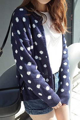 knit dot_cardigan