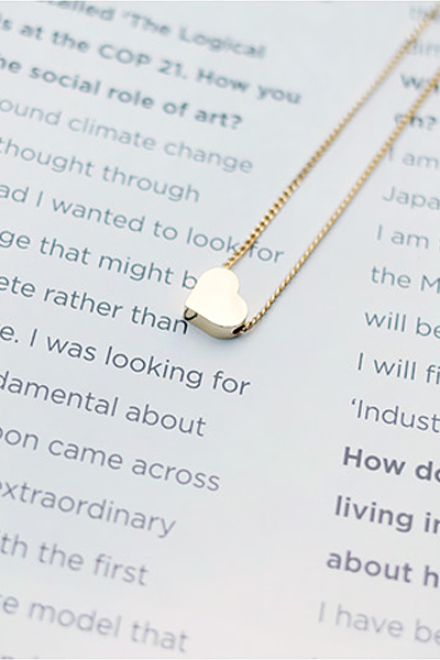 gold heart, necklace